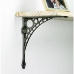 Wall mounted shelf support