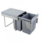 Pull-out waste bin Mod-400/20L+2x10L front fixing S/C