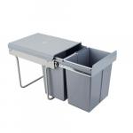 Pull-out waste bin Mod-400/2x20L S/C Gr