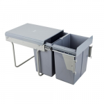 Pull-out waste bin Mod-400/2x20L front fixing S/C