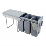 Pull-out waste bin Mod-300/10Lx3 front fixing