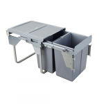Pull-out waste bin Mod-450/2x20L TANDEM CB  front fixing S/C