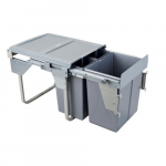 Pull-out waste bin Mod-450/2х10L+20L TANDEM CB front fixing S/C