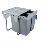 Pull-out waste bin Mod-600/2x34L TANDEM CB front fixing S/C