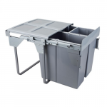 Pull-out waste bin Mod-600/34L+2x17L TANDEM CB front fixing S/C
