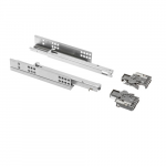 Modern undermount drawer slide set P/E 25kg/16mm , 3D ,soft-close