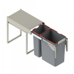 Pull-out waste bin Mod-300/1x9L+1x20L, without front fixing, S/C