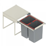 Pull-out waste bin Mod-450/2x15L, without front fixing, S/C