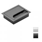 Cable tidy inserts MERIDA 80x80 Bl/black