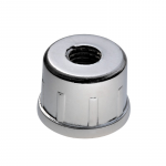 Steel end cap M10/h18 tube d25mm