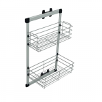 Side mounted 2-tier basket H- 770mm, LW - 280mm, NL- 464mm C/Bl