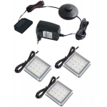 LED lamp LED SQUARE SET 12V/1,5Wx3/IP20